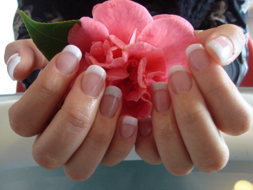 French Manicures at Dreamers Katikati